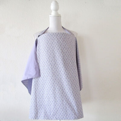 lilac and paisley pattern reversible nursing cover